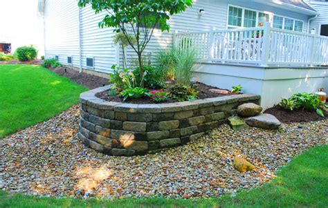 stone flower beds guttliep landscapers in cleveland oh