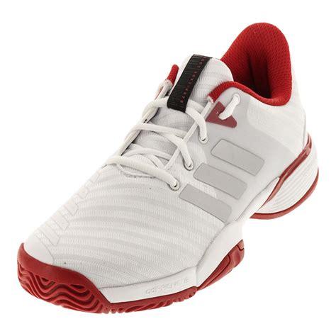adidas juniors barricade 2018 tennis shoes in white