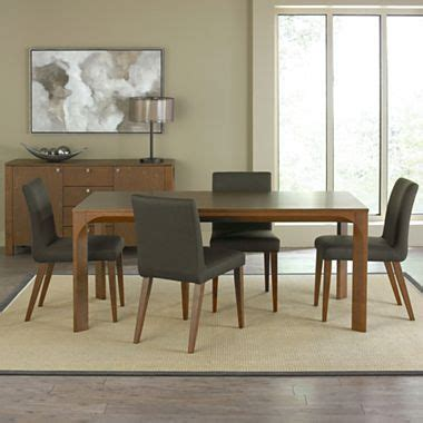 jcpenney kitchen table sets juno 35 quot rectangular dining table beige light walnut