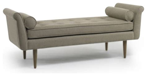 modern upholstered bench knox bench modern upholstered benches by dwellstudio
