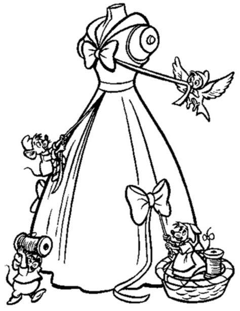 cinderella dress coloring pages disney cinderella coloring pages free coloring pages