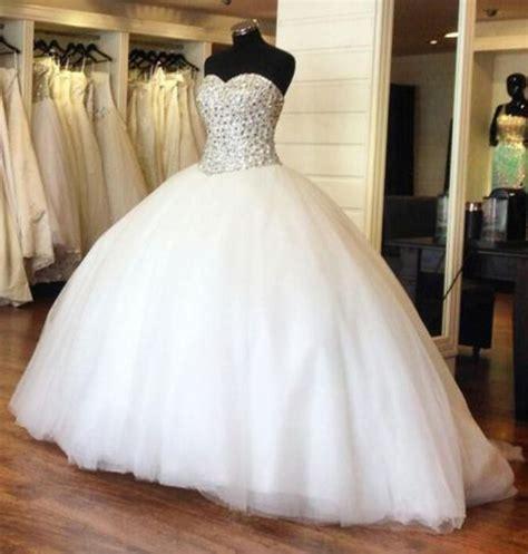 vestido de quinceanos princess white crystal quinceanera