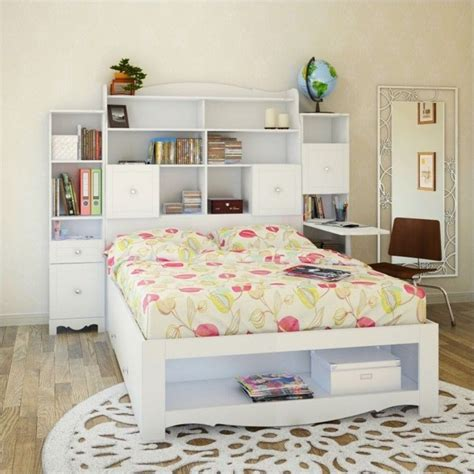 white bookcase headboard bookcase headboard in white 317303