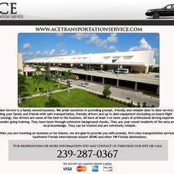 Mba Taxi Service Fort Myers Florida by Ace Transportation Service Transporte Al Aeropuerto