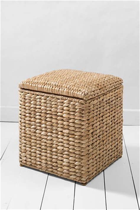 Seagrass Storage Ottoman Seagrass Storage Cube Fits Beneath A Window Sill And Artfully Hides Bed Linens Also Gives