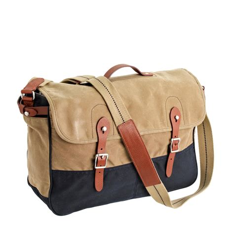 abingdon messenger bag in two tone j crew