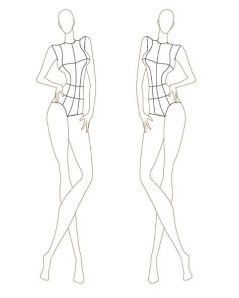 fashion templates the gallery for gt fashion design sketch model templates