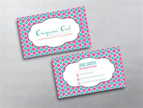 Origami Owl Template - origami owl business card 03