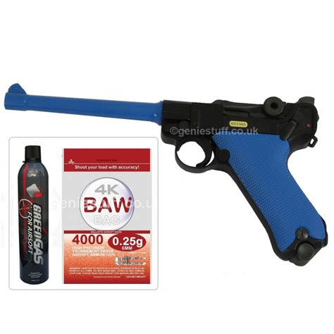 Airsoft Gun Laras Panjang Gas W E P08 Metal Luger Gas Blowback Airsoft Gun With Gas