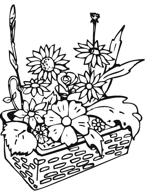 coloring pages of flowers and plants plants and flowers coloring pages primarygames