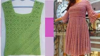 videos de como hacer blusas tejidas a crochet como hacer vestidos y blusas tejidas a crochet imagenes