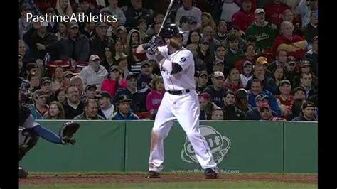 Dustin Pedroia Slow Motion Home Run Baseball Swing Hitting