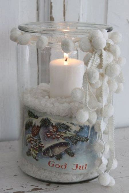 como decorar vasos de cristal para navidad decoraci 243 n de navidad con botellas tarros vasos 35