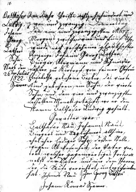 Hesse Darmstadt Birth Records The Birth And Baptismal Record Of Balthasar Ludwig Lather