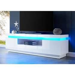 meuble tv blanc achat vente pas cher cdiscount