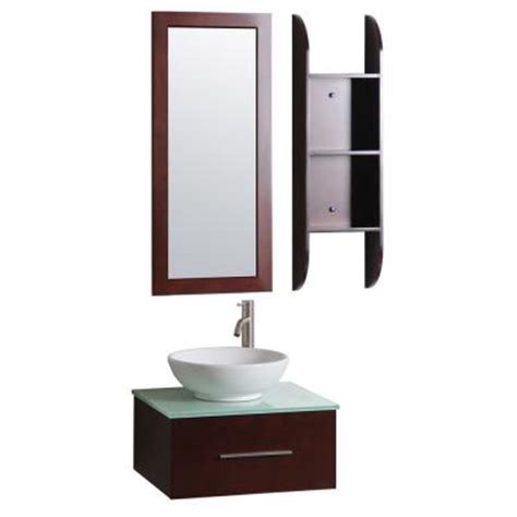 sheffield home lucca 24 in vanity in cherry with