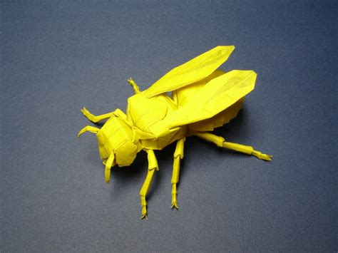 Origami Yellow Jacket - origami yellow jacket by origami artist galen on deviantart