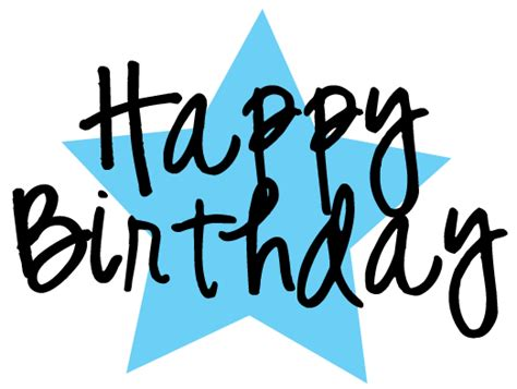 happy birthday star design free happy birthday clipart and graphics to for