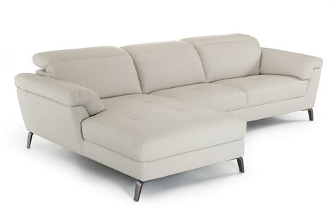 eco couch divani casa edelweiss modern light grey eco leather