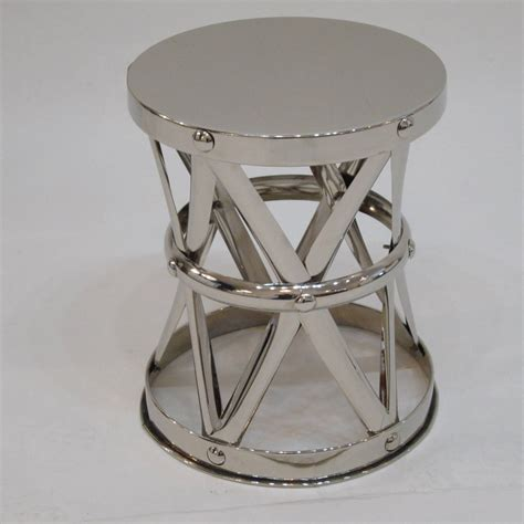 X Frame Side Table Nickel X Frame Garden Stool Side Table For Sale At 1stdibs