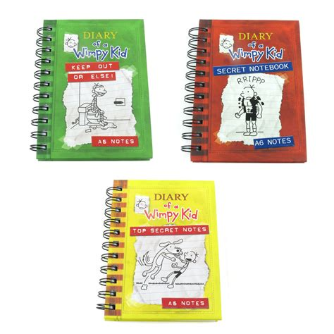 A6 Diary Of A Wimpy Kid Hardback Notebook Journal Lined Kid Diary
