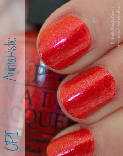 Opi Animal Istic opi animal istic swatch colors the o jays and pink