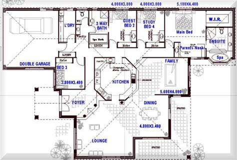 4 Bedroom House Designs Australia One Story Open Floor Plans With 4 Bedrooms Australian Floor Plans 4 Bedroom Open Plans Living