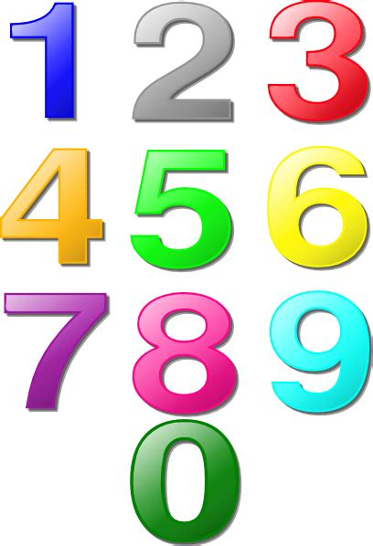 numeri clipart colorful numbers clip at clker vector clip