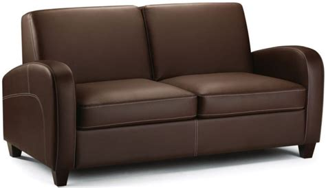 Leather Fold Out by Buy Julian Bowen Vivo Brown Faux Leather Fold Out Sofa Bed