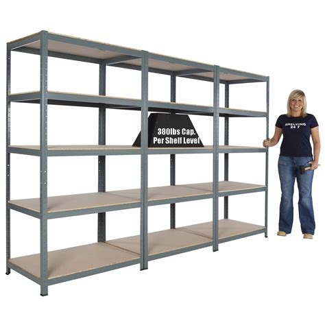metal garage shelving metal steel garage shelving commercial storage unit 5 shelves 71 quot hx 36 quot wx 24 quot d ebay