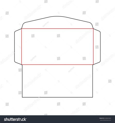 size envelope template dl size envelope template stock vector the envelope dl