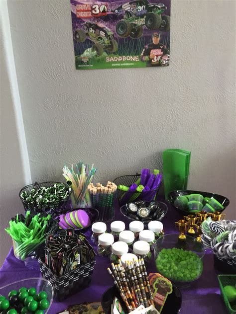 grave digger monster truck birthday party supplies noah s grave digger birthday party noah s monster truck