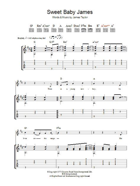 Sweet Baby James Guitar Chords