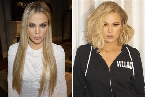 see all the kardashian jenners with long vs short hair