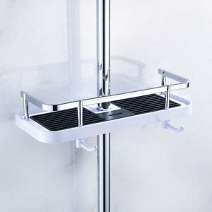 Shower Pole Shelf by Bathroom Pole Shelf Shower Storage Caddy Rack Organiser