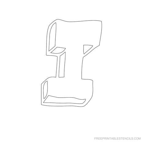 printable stencil letter i printable bubble letter stencils free printable stencils