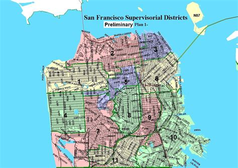 san francisco map by district san francisco map of districts