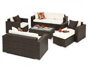 brown rattan sofa set tuscany outdoor brown rattan wicker weave 6 garden