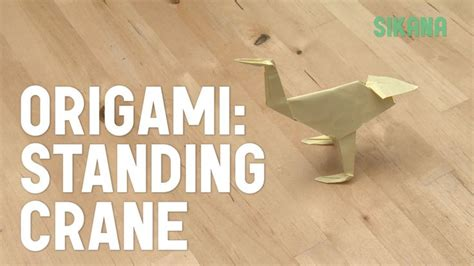Origami Standing Crane - 17 best images about origami cranes on paper