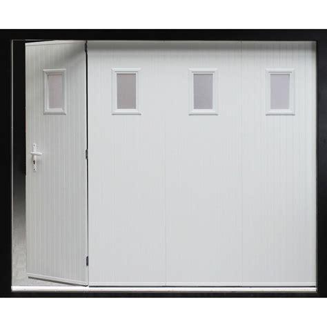 porte de garage sectionnelle avec portillon leroy merlin porte de garage coulissante manuelle artens h 200 x l 240
