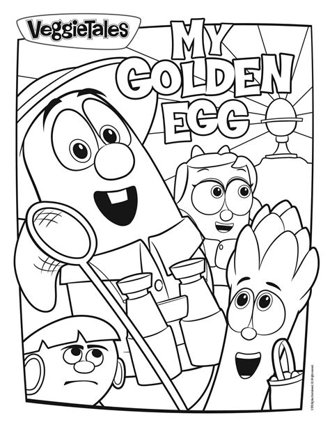 Coloring Page Veggie Tales by Veggie Tales Coloring Pages Coloringsuite