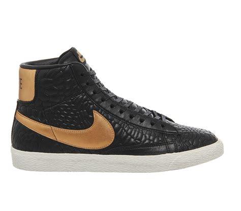 Nike Blazer Black Made In nike blazer mid in black for lyst