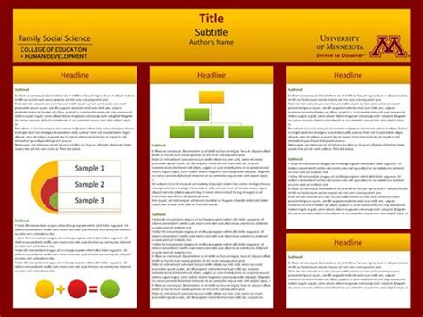 templates for creating posters university of minnesota templates are available for