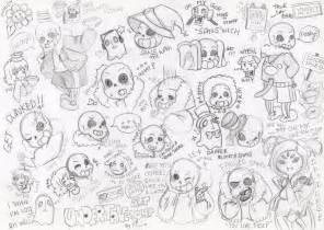 undertale sketchbook undertale doodles and sketches 02 alot of sans by