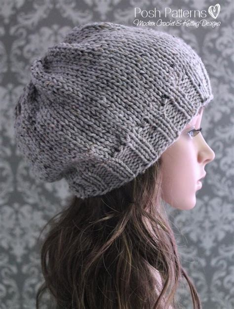 slouchy beanie knitting pattern knitting pattern easy knit slouchy hat pattern
