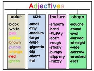 are colors adjectives adjectives ideas para la clase aprender ingl 233 s y escuela
