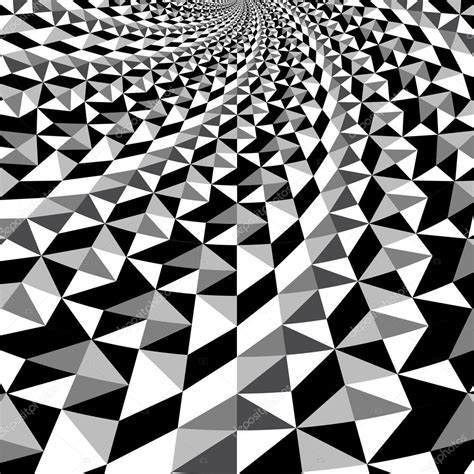 optical pattern vector black and white optical illusion triangle vector pattern