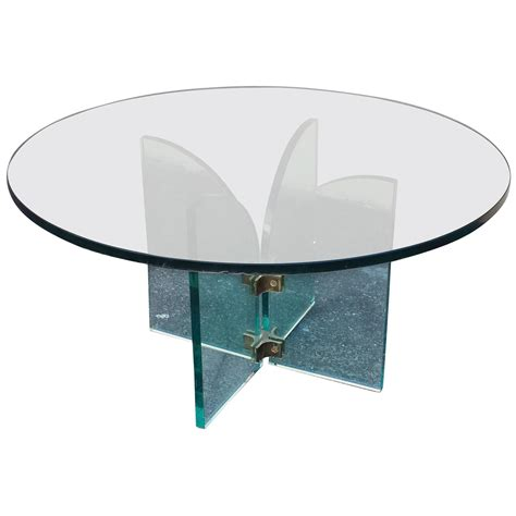 Mid Century Glass Coffee Table Coffee Table Mid Century Modern Style Glass Coffee Or Cocktail Table For Sale At 1stdibs