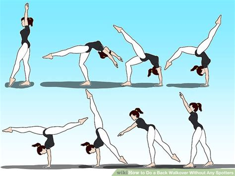 layout gymnastics move how to do a back walkover without any spotters with pictures