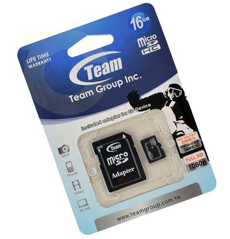 Micro Sd Team 16gb כרטיס זיכרון team micro sdhc class 10 tlv media center